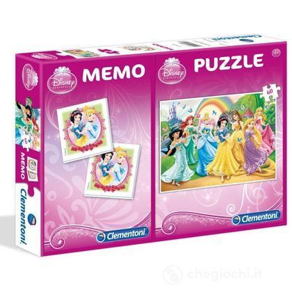 Puzzle 60 Pezzi E Memo Principesse Disney (79060)
