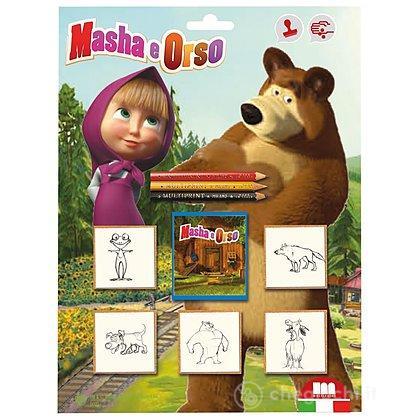 Blister 5 timbri + 3 matite Masha e Orso (5906)