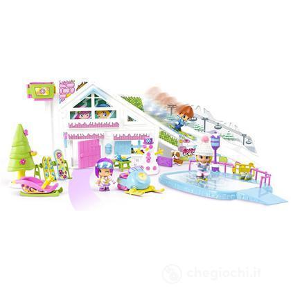 Pinypon Cottage neve con extra personaggi