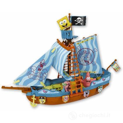SpongeBob Galeone con personaggi spruzzacqua