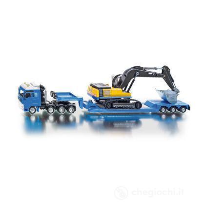 Camion con rimorchio ed escavatore 1:50