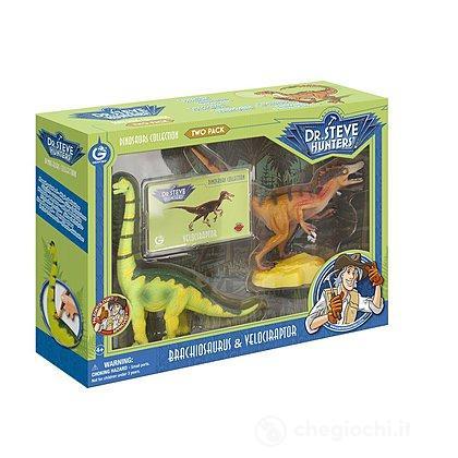 Dinosauri Two Pack-Velociraptor & Brachiosaurus