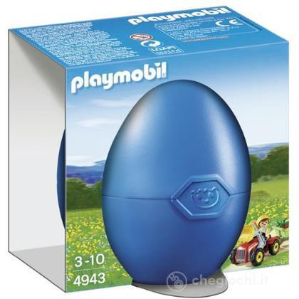 Uovo - Bimbo con trattore giocattolo (4943)