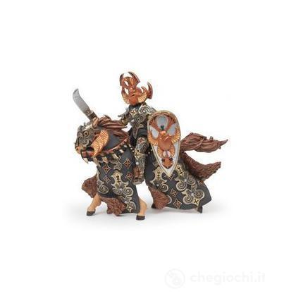 Guerriero scarabeo scuro + cavallo (38986)