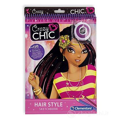 Crazy Chic Sketchbooks Hair Style 15993 Fashion Clementoni Giocattoli