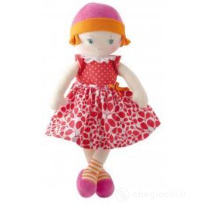 Bambola di pezza a fiori rossa