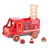Camion pompieri gioco cubi in legno (80068)