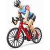 Bicicletta da strada con ciclista (63110)