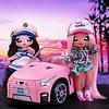 Na! Na! Na! Surprise Macchina Decappottabile di Peluche Per Bambole, Colore Rosa