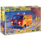 Uaz 3909 Firefighter Car Scala 1/43 (ZS43001)