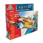 Aereo Spitfire Mk. Vb. (Kit, colori, colla, pennello)