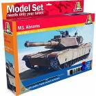 Carro Armato M1 Abrams (Kit, colori, colla, pennello)