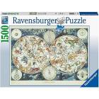 Puzzle 1500 pezzi Mappa Del Mondo Di Animali Fantastici (16003)