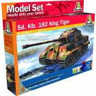 Carro Armato Sd.Kfz. 182 King Tiger (Kit, colori, colla, pennello)