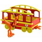 Conducente Dino Trains Personaggi Con Vagone