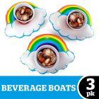 Rainbows Pack Beverage Boat 3 Pz (Porta Bicchiere Gonfiabile)