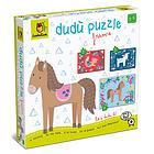 Farm animals. Dudù puzzle frame 2-3-4 pcs (62030)