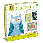 Woodland animals. Dudù puzzle frame 2-3-4 pcs (62031)