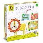 Safari animals. Dudù puzzle frame 2-3-4 pcs (62032)