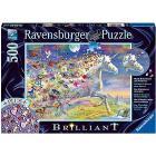 Puzzle 500 pezzi Unicorno E Le Sue Farfalle Brillant (15046)