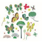 Farfalle nel giardino - Adesivi finestra (DD05051)