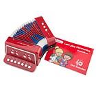Fisarmonica rossa con il libro di musica (10055)