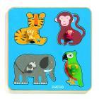 Animali della giungla Family Jungle Puzzle di legno Large Buttons Puzzles (DJ01062)