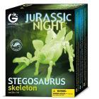 Jurassic Night Stegosauro Scheletro