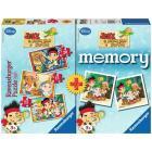 Memory + 3 puzzle Jake e i pirati dell'isola che non c'è