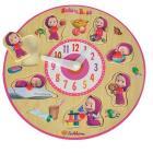 Masha orologio puzzle in legno