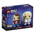 Ritorno al futuro Marty Mcfly e Doc Brown - Lego Brickheadz (41611)