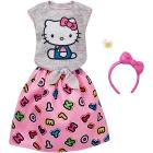 Barbie - Moda - Look Hello Kitty Completo Gry Tp/Skrt Fash (FKR68)