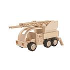 Fire Truck camion pompieri in legno (6122)