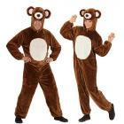 Costume Adulto orso bruno peluche L