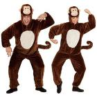 Costume Adulto scimmia peluche L