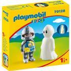 Playmobil Cavaliere con fantasma 1.2.3