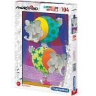 Mordillo Supercolor Puzzle, 104 Pezzi (27134)