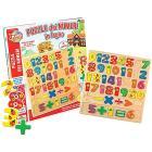 Puzzle Legno Numeri e Simboli 38 Pezzi (10135)