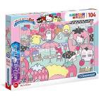 Puzzle 104 Brilliant Hello Kitty