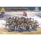 Soldati Fanteria Britannica e Sepoy. Guerre coloniali 1/72 (IT6187)
