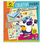 Happy animals. Creative stickers (8192)