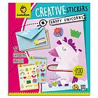 Happy unicorns. Creative stickers (8194)