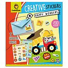 Happy Workers. Creative stickers (8207)