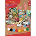 Sequin Art 0213 - Painting By Numbers Junior - Cats