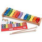 Metallofono in legno (12 tasti) con libro di musica (10218)