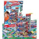Garage multipiano con auto e tappeto (10234)