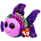 Peluche Flippy - Pesce Muliticolori 15 cm Beanie Boo (37242)