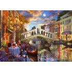 Puzzle 1000 pezzi Tramonto Sul Ponte Di Rialto (15286)