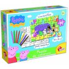 Peppa Pig Puzzle da colorare (43231)