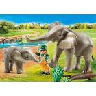 Guardiano Dello Zoo Con Elefanti (70324)